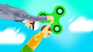 I GOT KILLED BY A HUGE FIDGET SPINNER! (Happy Wheels)