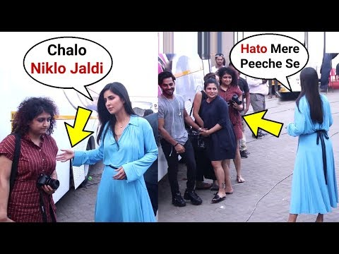 Katrina Kaif Rude Behaviour With Fans Standing Behind Her During Bharat Promotion