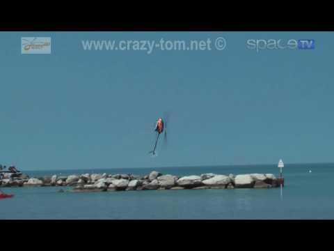Heli Smackdown on the beach, John O Rourke - T-Rex 600N