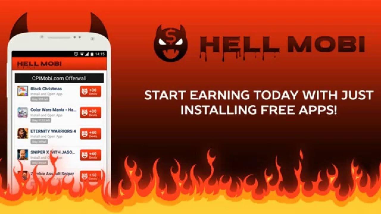 Заработок на Андроид-Hell Mobi программа для заработка