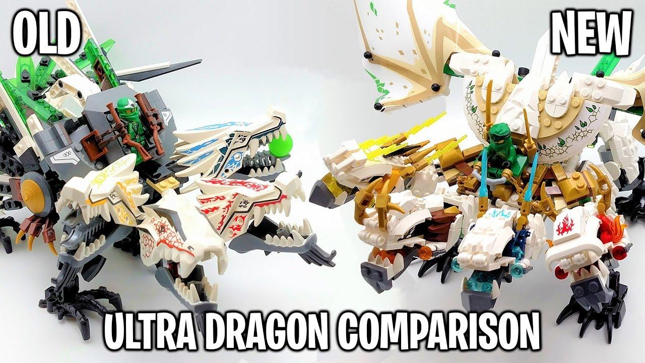 Lego Ninjago Ultra Dragon Set Comparison Old Vs New Sets 9450 And