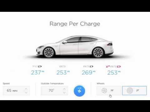 Tesla Range Calculator Highlights Impact of Temperature