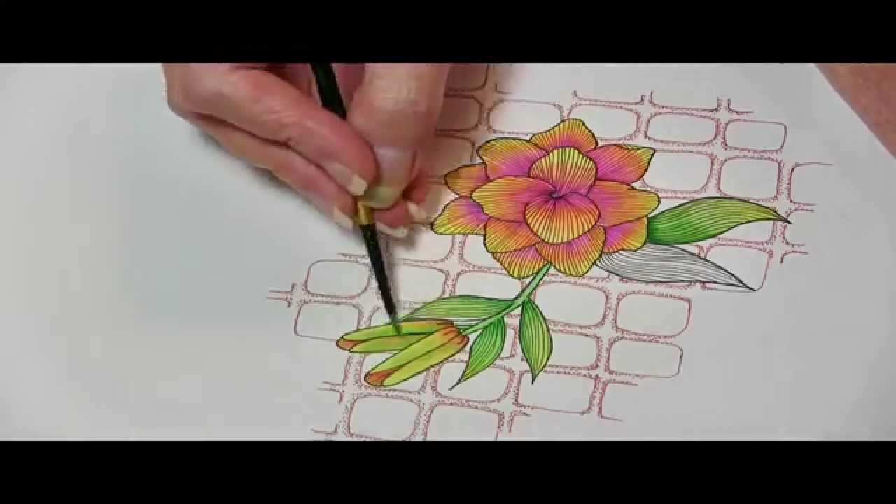 colouring with water based markers youtube