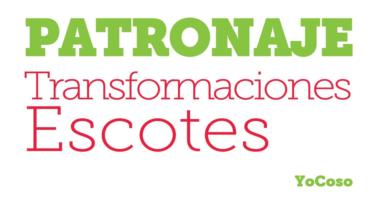 Patronaje: Transformaciones Varias de Escotes - YouTube