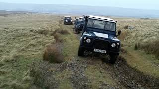 Green laning in the Lake District, Bootle December 2019