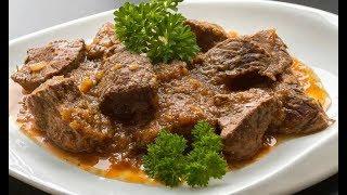 Говядина тушенная. Вкуснее не бывает. Как приготовить мясо.