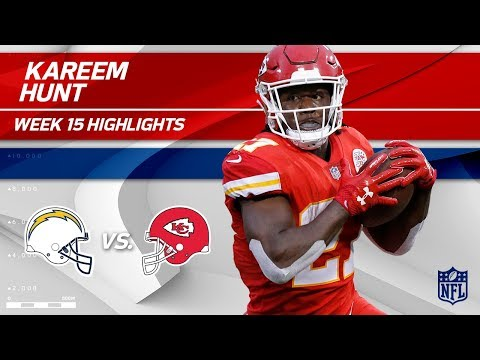 Kareem Hunt Takes OVER w/ 206 Total Yards & 2 TDs!   Chargers vs. Chiefs   Wk 15 Player Highlights