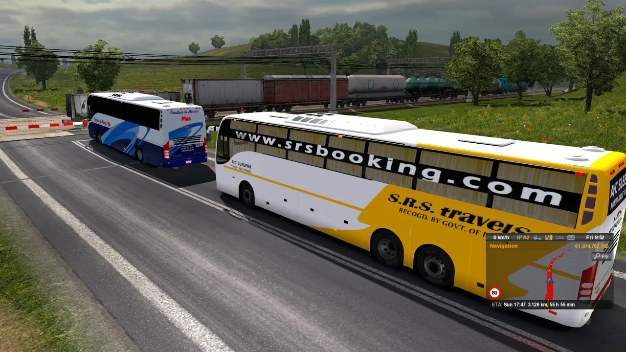 🔴 [ETS 2 Indian Bus Mod]- S R S Volvo Sleeper - Ghat Road Beautiful  Morning - Euro Truck Simulator 2