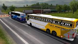 🔴 [ETS 2 Indian Bus Mod]- S.R.S Volvo Sleeper - Ghat Road Beautiful Morning - Euro Truck Simulator 2