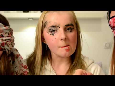 Blindfolded makeup challenge ft. Lova och Stina | Johanna Lind