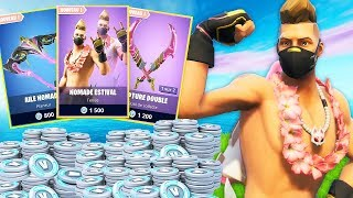 I DEPENSE ALL MY V-BUCKS TO BUY THE NEW SKIN LIMITÉ ''NOMADE ESTIVAL'' ON FORTNITE!