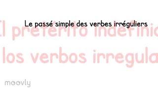 Le Passe Simple Des Verbes Irreguliers En Espagnol Youtube