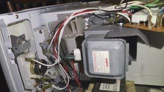 Замена слюды и колпачка в микроволновке - ремонт по-быстрому (заискрила микроволновка)