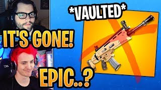 Streamers React to *VAULTED* SCAR and Assault Rifle! (BUG) - Fortnite Best and Funny Moments