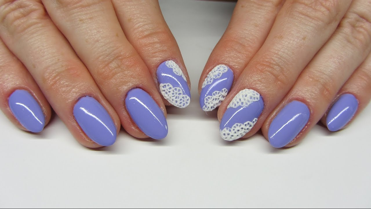 3d Lace Nails Koronka Z Akrylu I Hybrydy Na Paznokciach