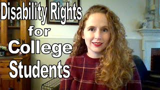 Disability Rights for College Students