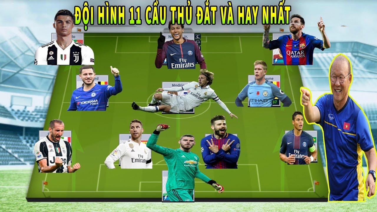 Đội Hình 11 Cầu Thủ nhiều VÀNG đắt nhất Dream League Soccer 2019
