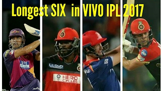Longest SIX in VIVO IPL 2017| Top 5 Batsman in VIVO IPL 2017|
