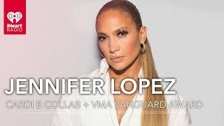 JLo Reacts Talks Cardi B Collab And Winning VMA Vanguard Award | Exclusive Interview