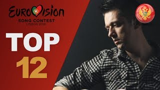 Eurovision 2018: top 12 so far (W/ comments) New: Montenegro