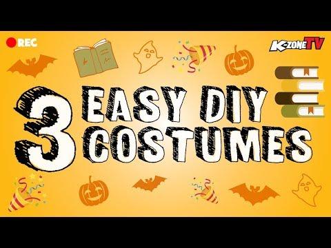 3 Last Minute Costume Ideas   DIY Halloween & Book Week
