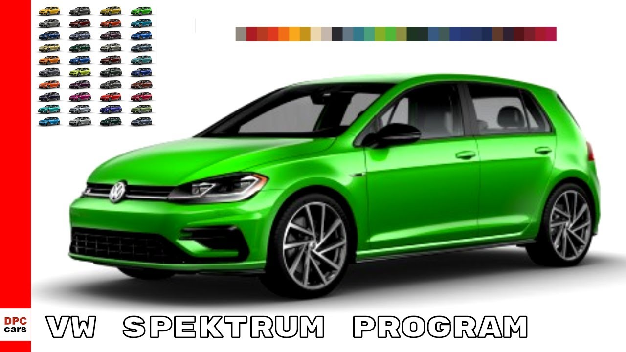 2019 Vw Golf R Spektrum Program Colors Youtube