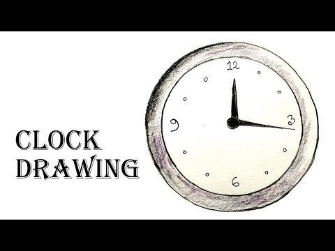How to Draw a Clock Step By Step - YouTube
