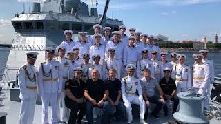 (12+)  Делегация г.о. Мытищи побывала на репетиции Главного военно-морского парада