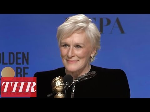 Golden Globes Winner Glenn Close Full Press Room Speech | THR