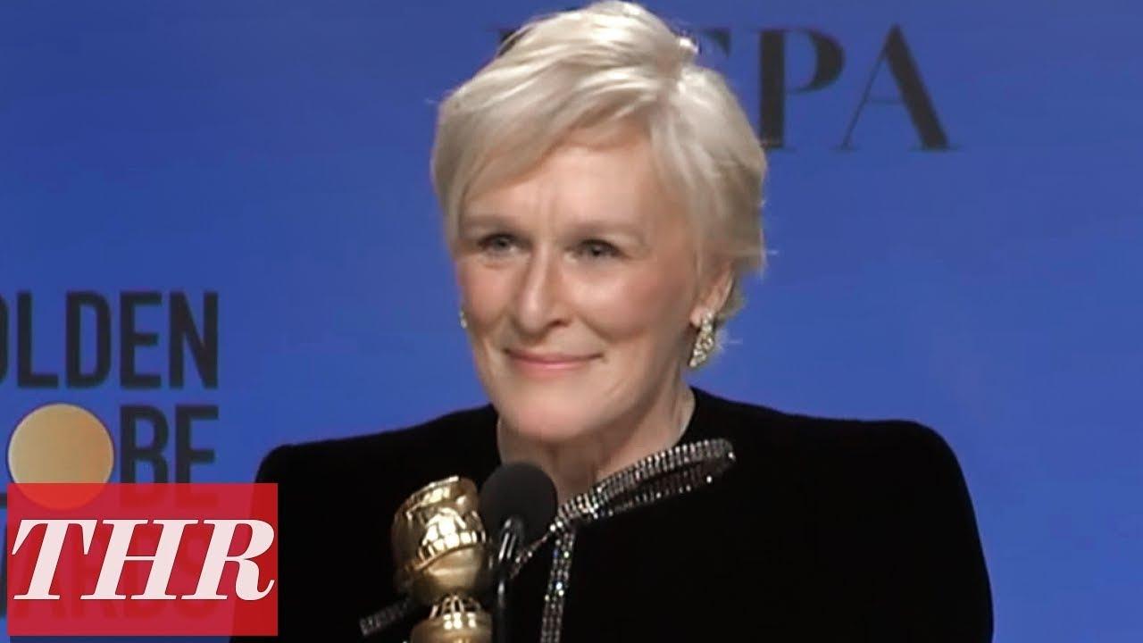 Golden Globes Winner Glenn Close Full Press Room Speech | THR