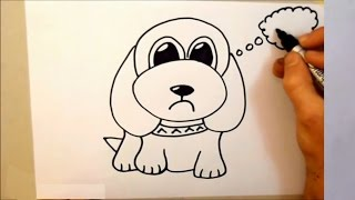 Drawing - how to draw a dog