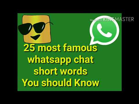 25 Most Famous Whatsapp Chat Short Words You Should Know