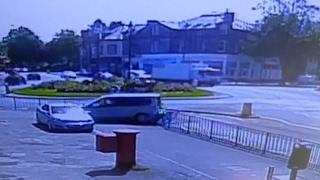 Driver Ploughs Through Metal Railing