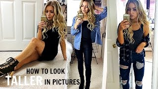 HOW TO POSE & LOOK TALLER IN MIRROR SELFIES / PHOTOS WHEN YOU'RE SHORT! / INSTAGRAM