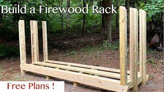 double deep firewood storage rack