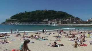 Playa de la Concha San Sebastian Beach, Spain