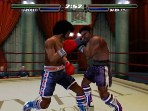 Rocky legends (PS2) Apollo Creed vs John Barkley (Career Apollo)