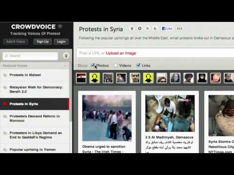 Crowdsourcing information about protests worldwide with CrowdVoice.org
