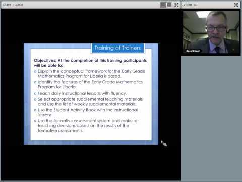 Numeracy Webinar Liberia primary instructional time