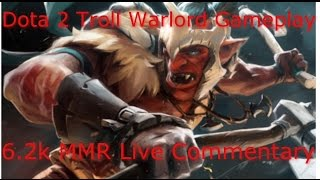 Dota 2 Troll Warlord Guide 6.85: CARRY Pub Games (6K MMR Live Gameplay Commentary)