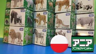 12 różnych zwierząt zabawka - Japonia Takara Tomy - kompilacja HD (00406 z pl)