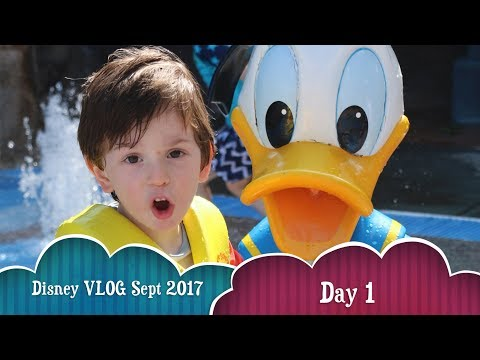 Disney World Vacation 2017 - Day 1: Saratoga Springs Resort, Turf Club, Artist's Palette, Pool