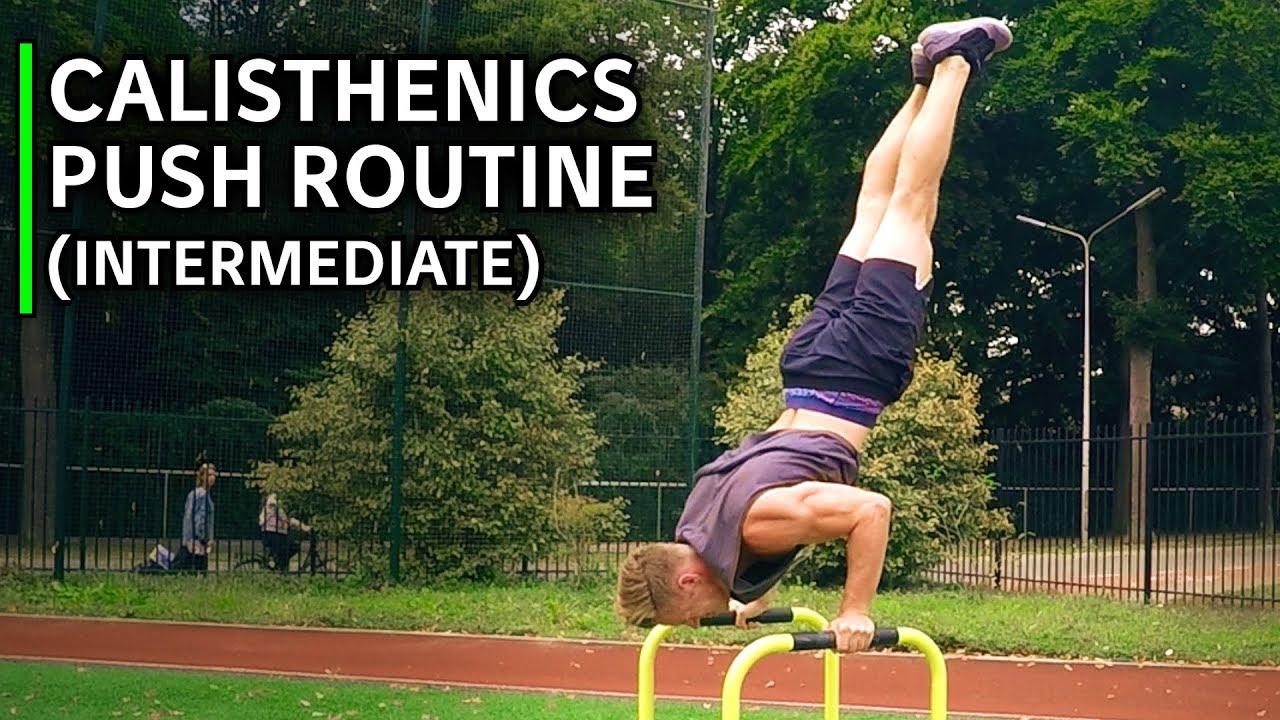 Intermediate Calisthenics Push Routine (Chest & Shoulders, BODYWEIGHT ONLY)  | Calisthenics Family