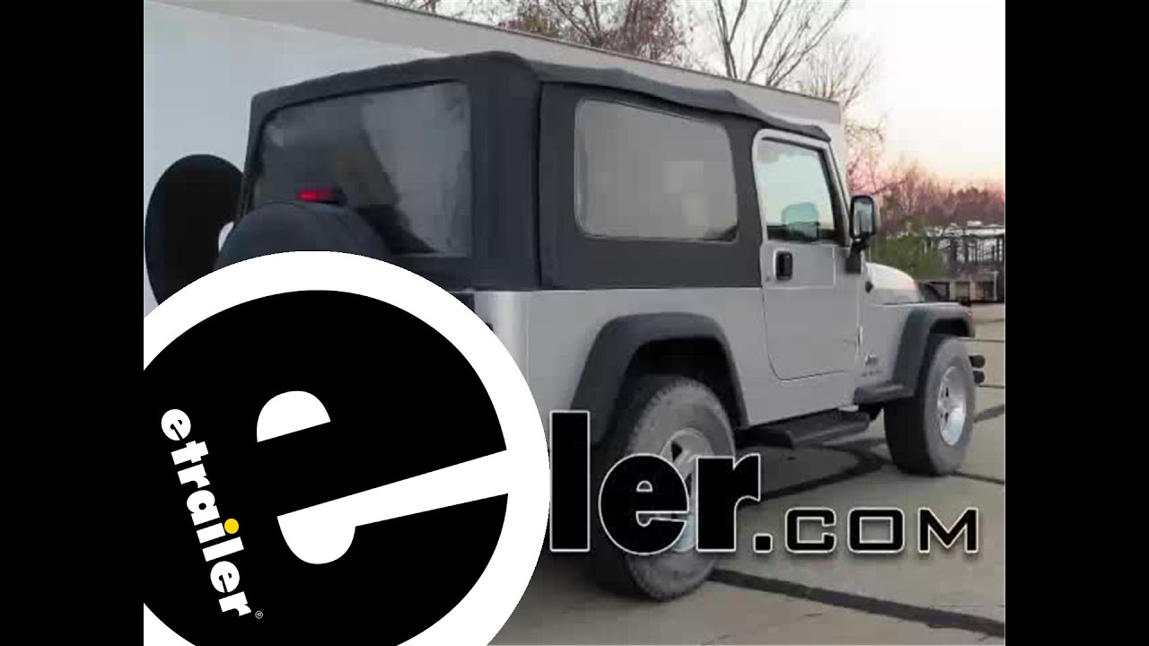 install trailer hitch 2004 jeep wrangler 75193 etrailercom YouTube
