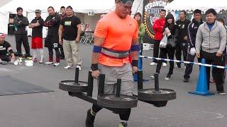 ストロングマンチャレンジ2015岡山 Strongman Challenge Farmers Walk 20151101 強壯的男人