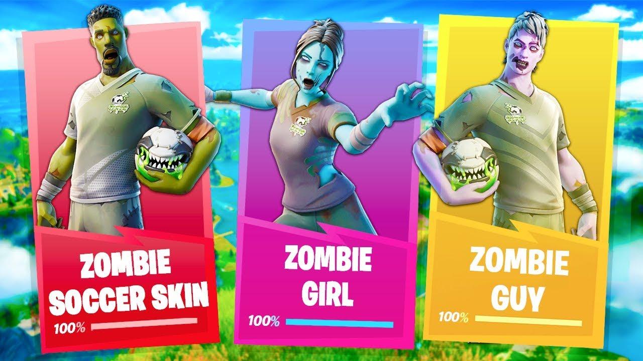 Zombie Soccer Skins In The Item Shop Level 165 Fortnite