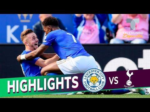 Leicester City vs. Tottenham: 2-1 Goals & Highlights | Premier League | Telemundo Deportes