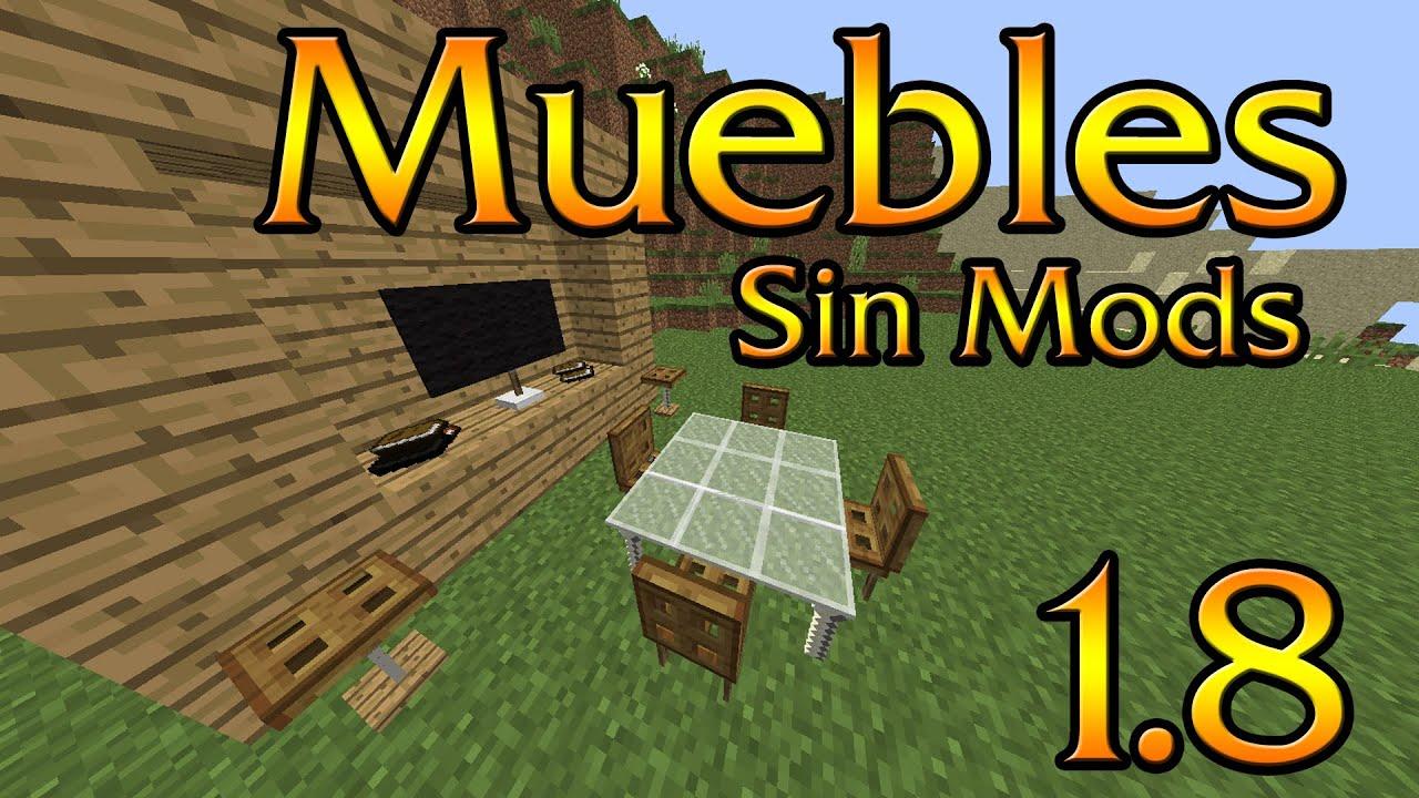 como crear muebles reales en minecraft sin mods plugins