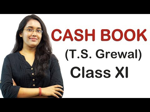 Cash Book - Double Column Cash Book illustration 9, Pg 10.16 (T.S Grewal Accounts Class 11th)