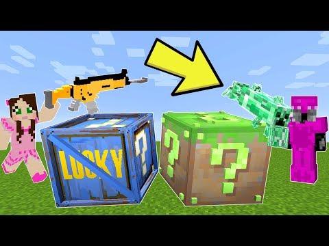 Minecraft: FORTNITE VS MINECRAFT LUCKY BLOCK CHALLENGE! - Modded Mini-Game